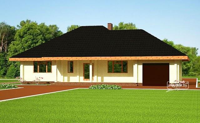 Una casa in legno lamellare 132 m2 for Una storia piani di casa di campagna francese
