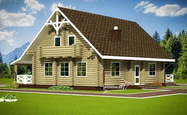 Una casa in legno lamellare 132 m2 for Piani di casa in stile tradizionale