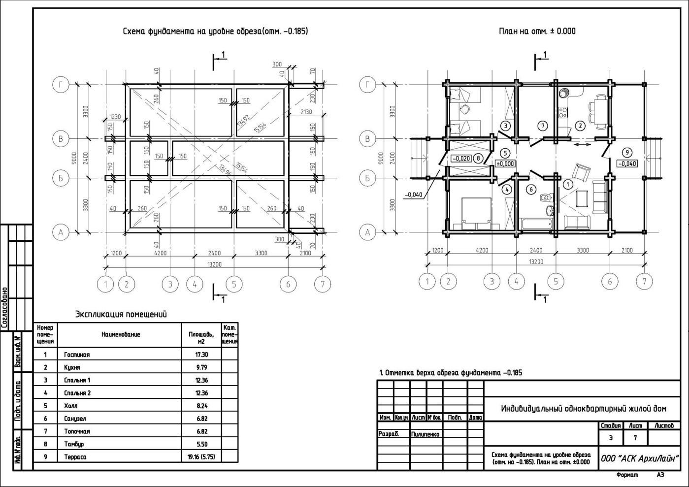 Casa 80 Mq Pianta un tipico progetto di una casa fatta di legno - 80-90 metri