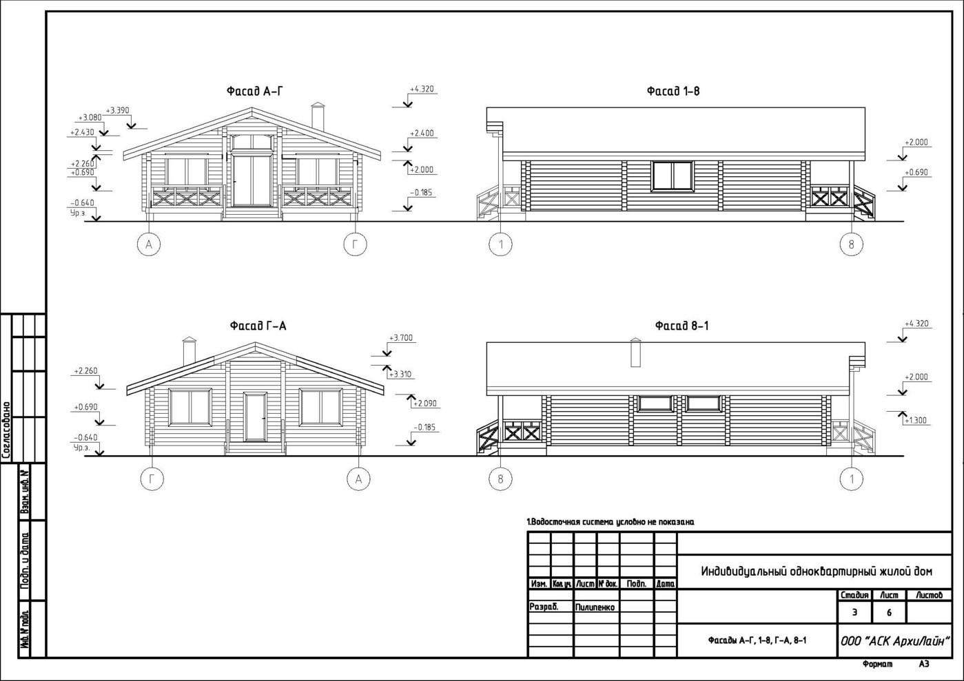 Tipico progetto di casa in legno lamellare impiallacciato ...