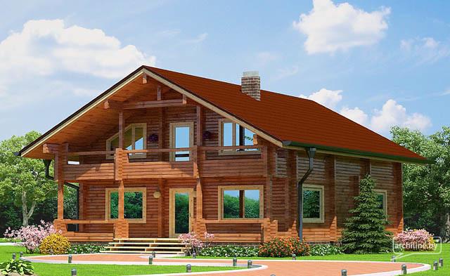 Casa Di Legno Lamellare 157 M2